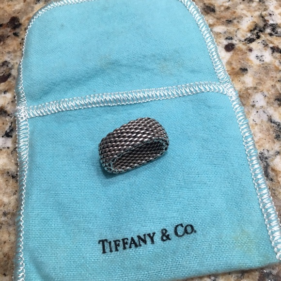 Tiffany & Co. Jewelry - Tiffany & Co mesh sterling band ring